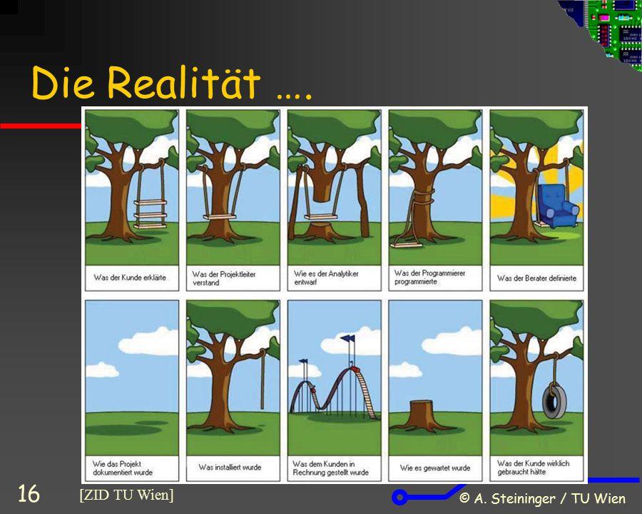 Die Realität …. © A. Steininger / TU Wien [ZID TU Wien]